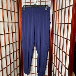 Lisa Rinna navy blue cargo jogger pants